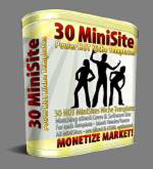 Product picture 30 Hot Mini Site Templates With Master Resell Rights