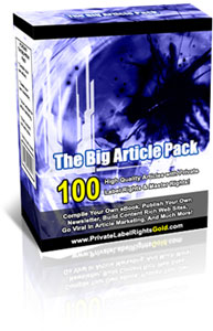 Product picture The Big Article Pack - 100 High Quality Articles With Private Label Rights & Master Rights