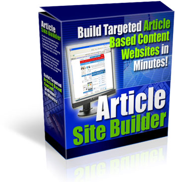 Product picture Article Site Builder With Private Label Rights and Master Resell Rights