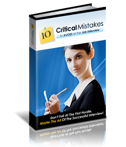 Product picture *NEW* 10 Critical Mistakes to Avoid At The Job Interview With Master Resell Rights