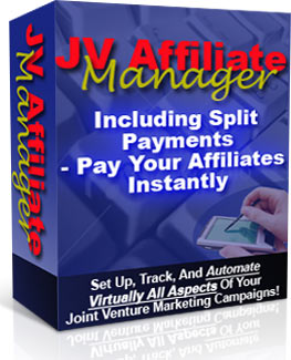 Product picture JV Affiliate Manager With Master Resell Rights - Set Up, Track And Automate Joint Venture Campaigns