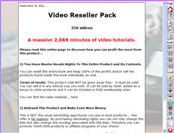 Product picture Video Reseller Pack - Massive 2,069 Minutes of Down To Earth And Practical ´How To´ Video Tutorials